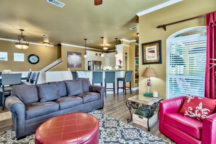 Coconut Cove at Emerald Shores - Common Areas: Living, Dining, and Kitchen