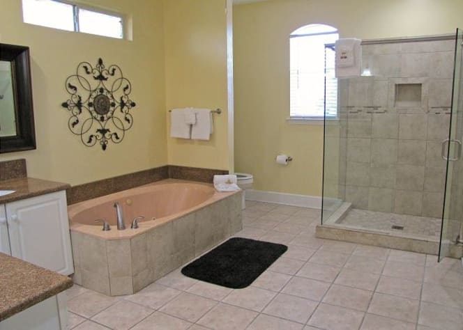 Private Master bathroom off of master bedroom! Whirlpool tub and walk in shower!