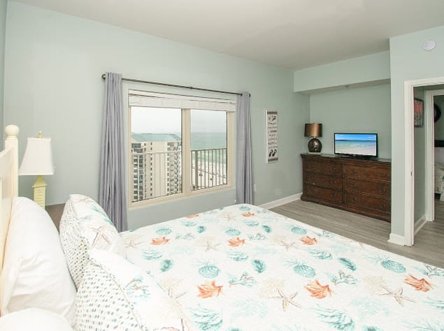 King bedroom with gulf views