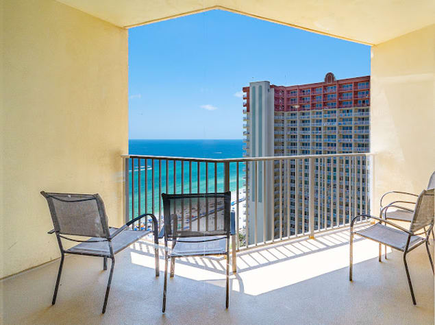 Balcony with beautiful Gulf views