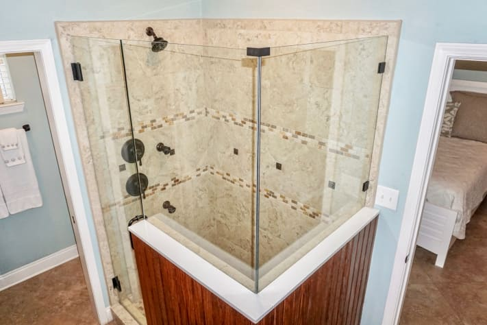 View of Master Bath Walk In Shower