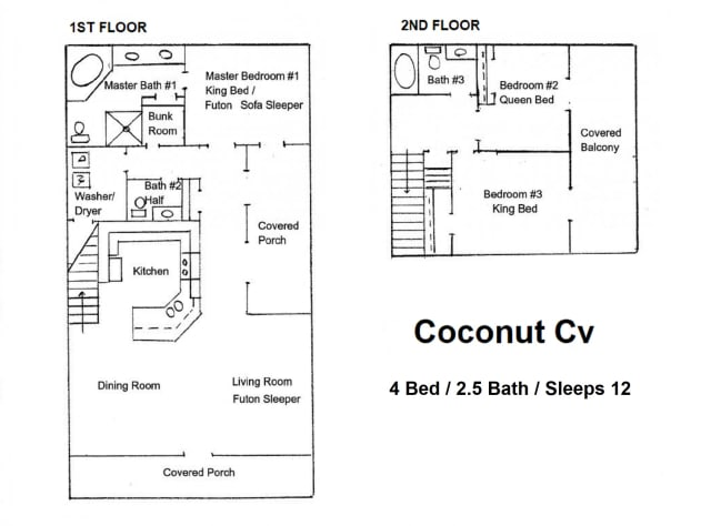 Coconut Cove at Emerald Shores - Floor Plan Layout