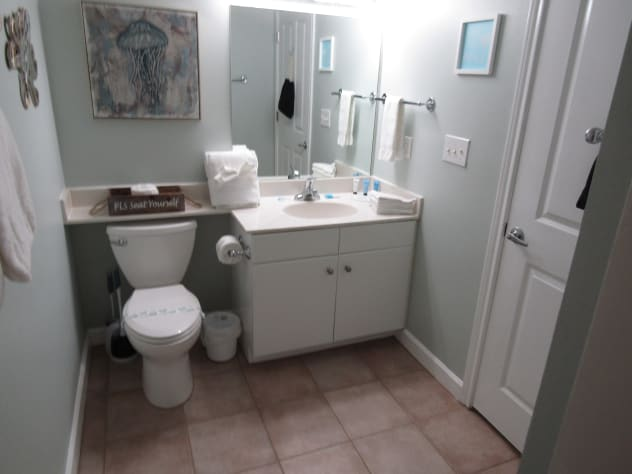Bathroom off of Private Bunk Room