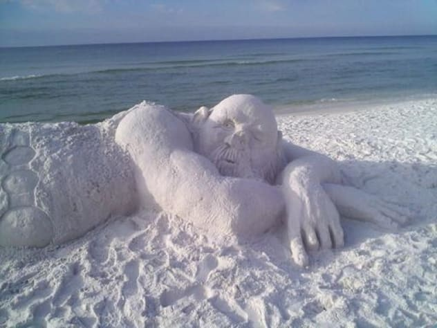Sand Sculture at Miramar Beach