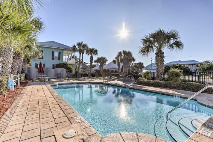 ...or take a dip in the neighborhood's small heated pool near the tennis courts