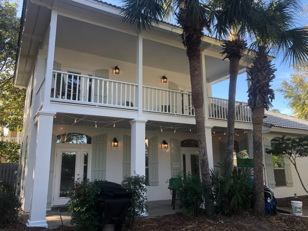 Large side porches off all bedrooms with new market lights!