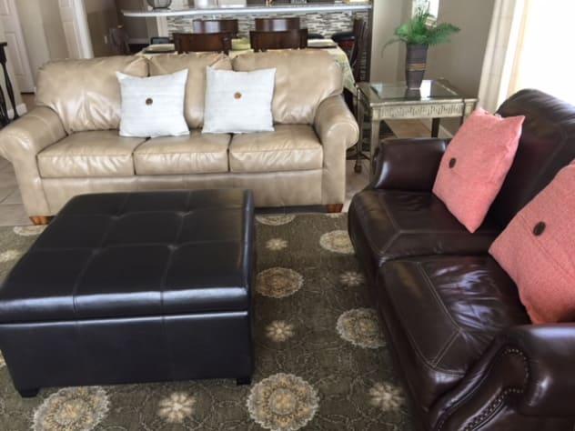 Queen-size sleeper sofa in Living Room
