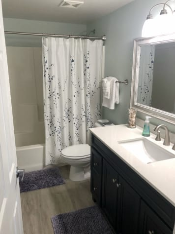 NEW Bath Vanity, Lighting, Flooring... just Beautiful!