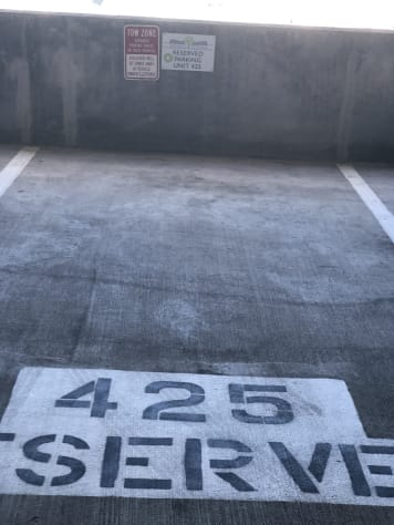 Reserved 4th Floor Parking Spot.  Park and walk to Salty-Blu....