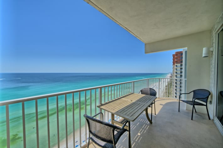 Shores of Panama 1829 Wraparound Gulf front Condo At Shores of Panama