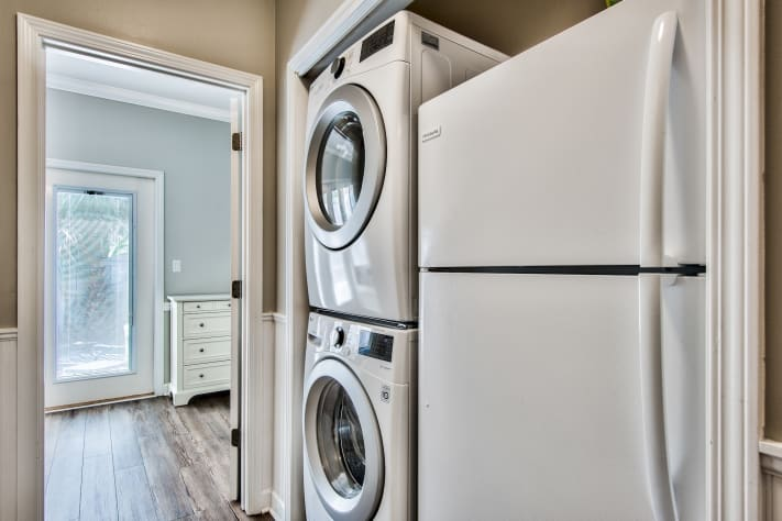 Full sized washer/dryer and second refrigerator