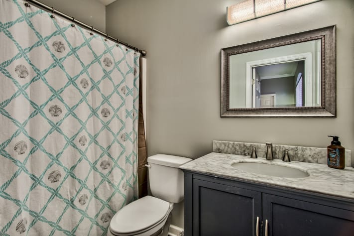 Master attached bathroom with large Tub