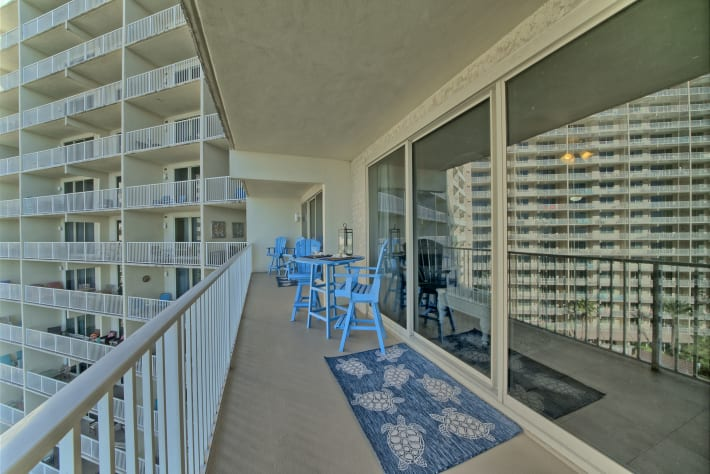 Huge double balcony with access from the living room and Master bedroom!