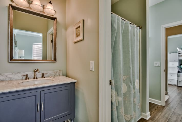 Jack and Jill Bathroom with walk-in shower