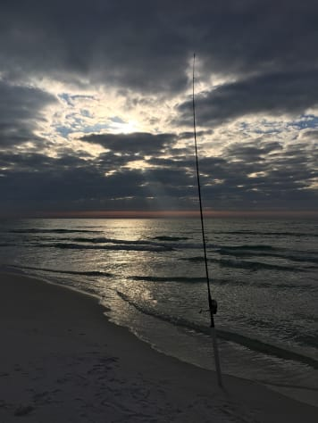 Surf-Fishing at Miramar Beach (sunrise)