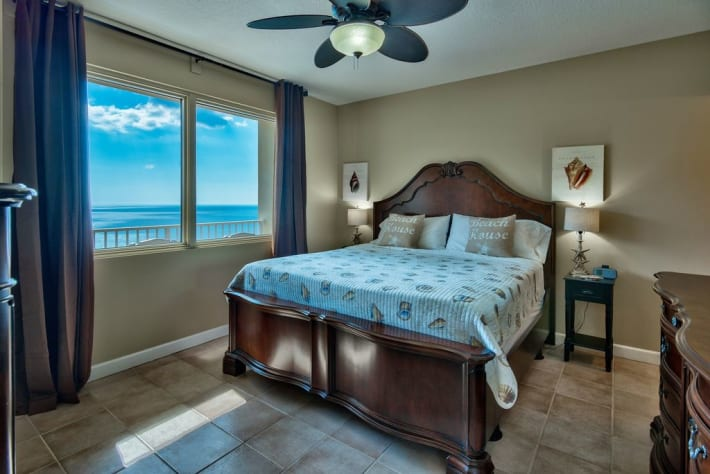 Master bedroom with amazing Gulf VIEWS!  55