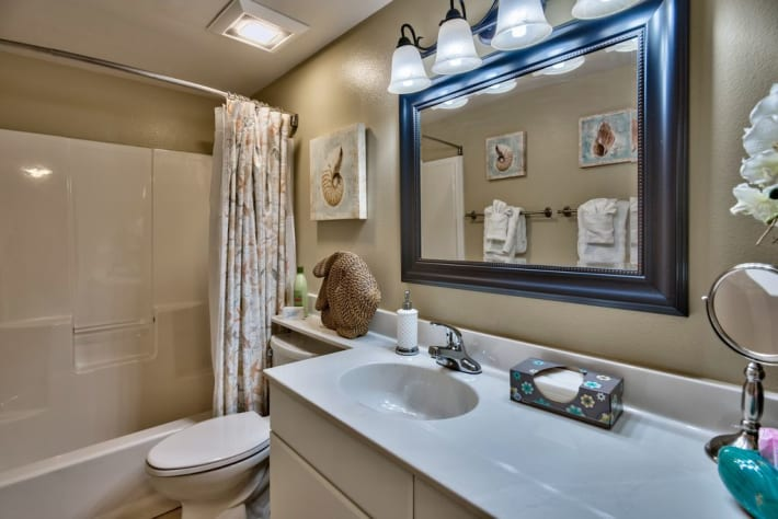 En Suite Master bath with new super plush HOTEL collection towels.