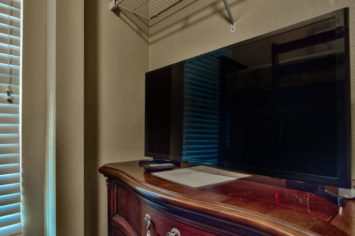 Large TV in Bunk room.