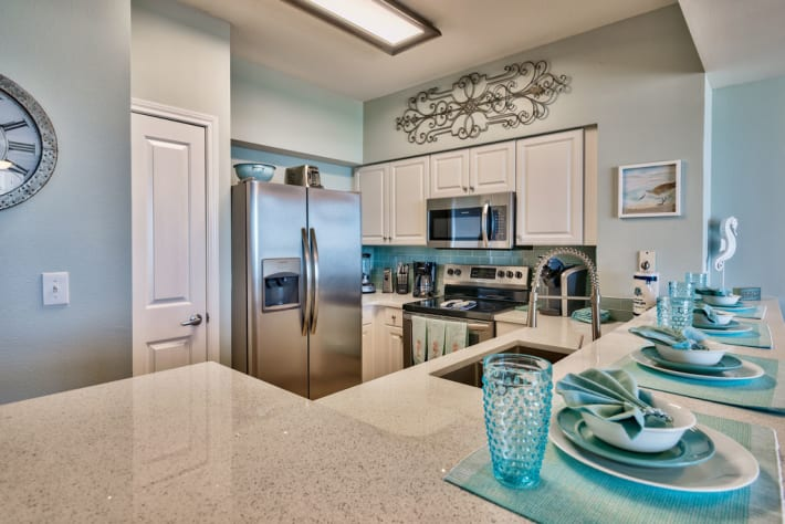 Eat in kitchen . This unit offers a Keurig and a drip coffee maker.