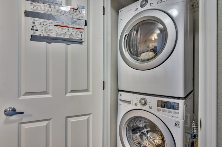 FULL sized washer and dryer in the unit for your convenience