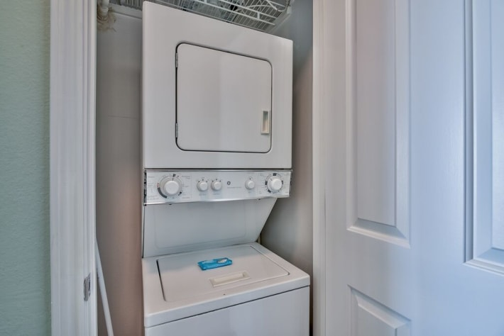 Washer and Dryer located in Unit