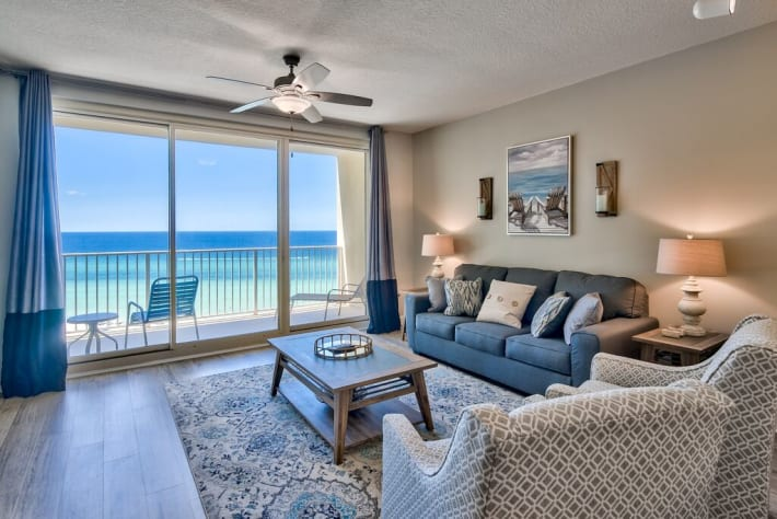 Newly updated with stunning beach views, great decor, and open concept layout is perfect for your trip!