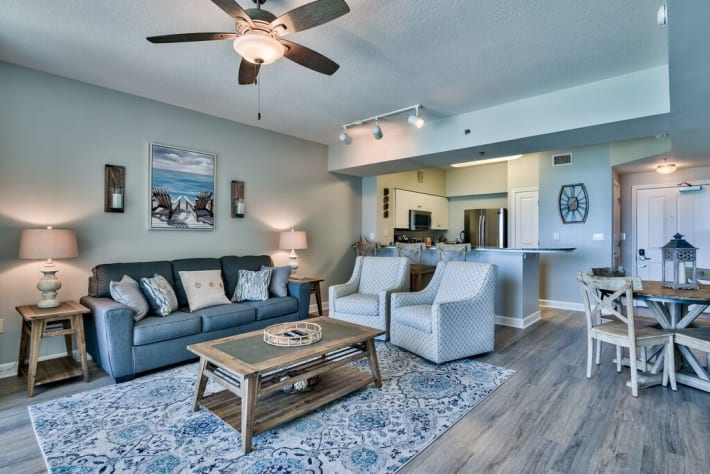 New Condo on board! Newly updated with stunning beach views, great decor, and open concept layout is perfect for your trip!