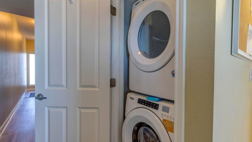 FULL SIZE washer/ dryer in the unit for your convenience