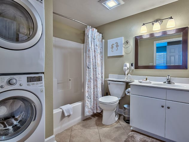 Full- szied Washer and Dryer for your convenience.