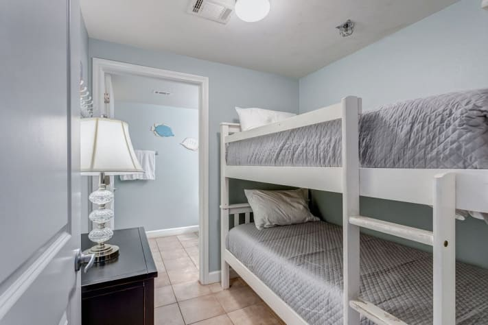 Bunk Room with Door for Privacy