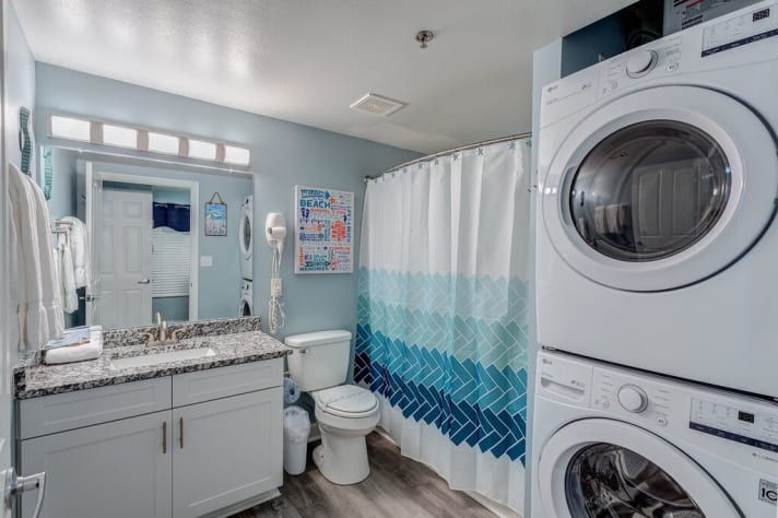 Second Bathroom with Full- Sized Washer and Dryer