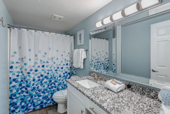 Master Bathroom with Granite Counters