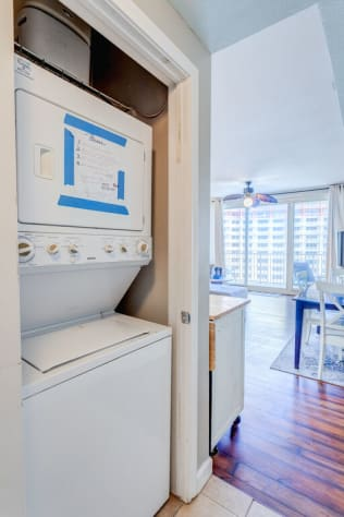 Washer and Dryer in Unit for your convenience!