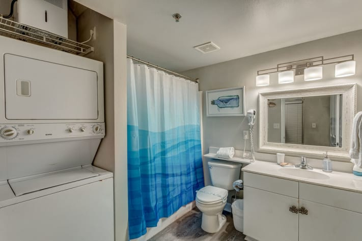 Guest Bath with Washer and Dryer