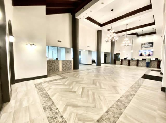 Newly remodeled lobby area