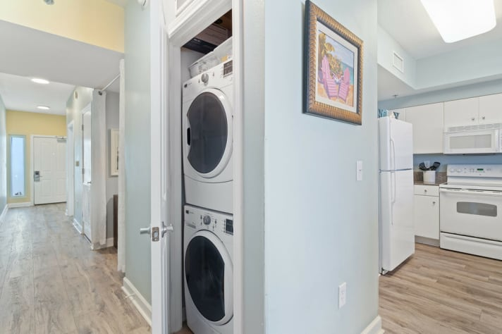 FULL- sized washer and dryer in unit for your convenience!