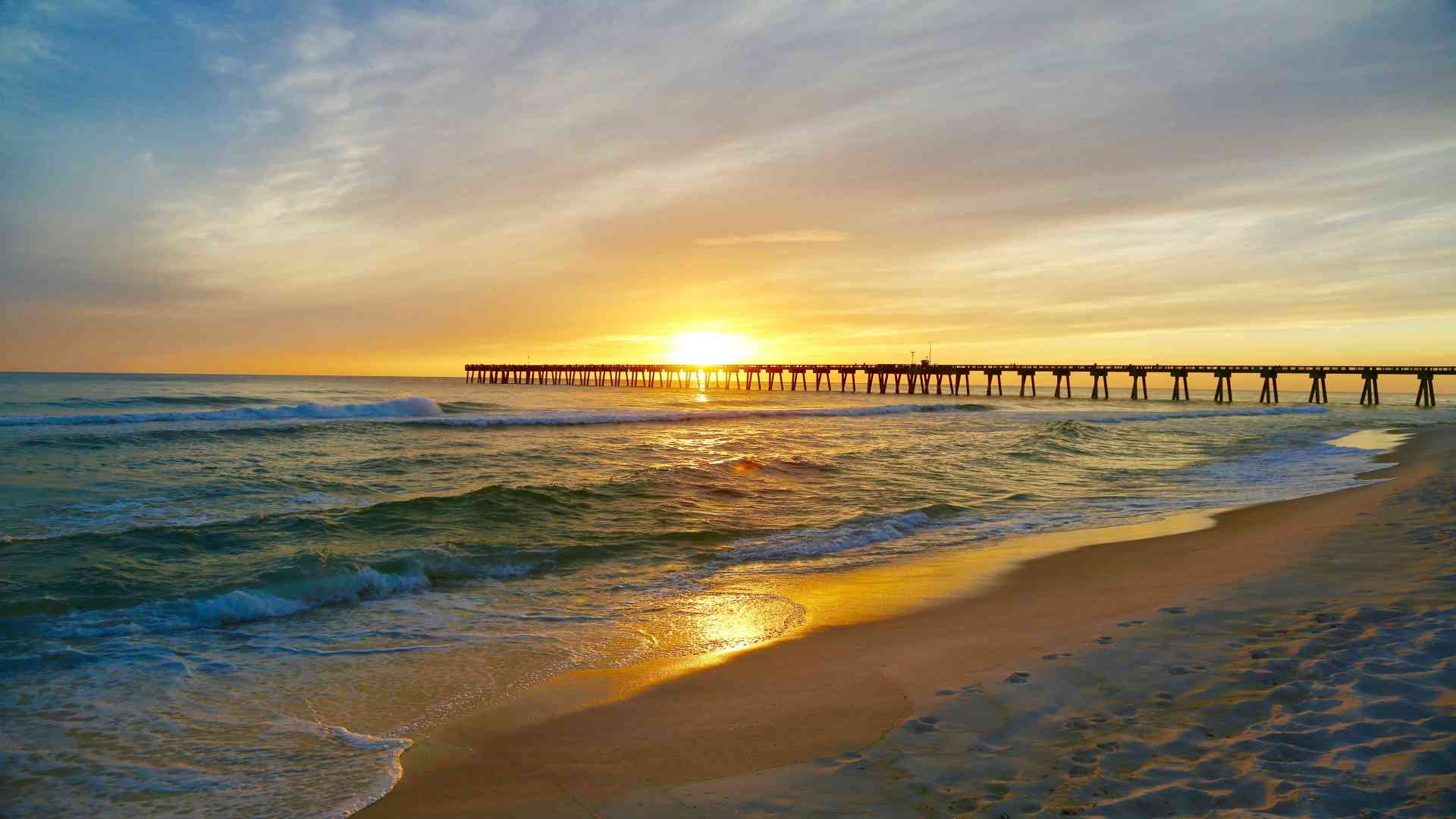 Panama City Beach Florida Perfect Sunset