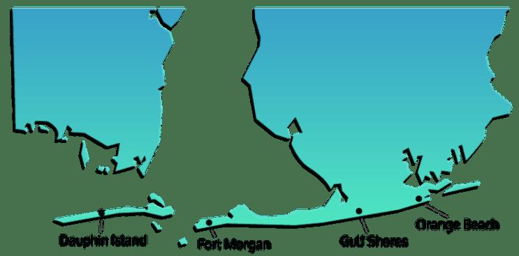 Alabama Vacation Rentals Map