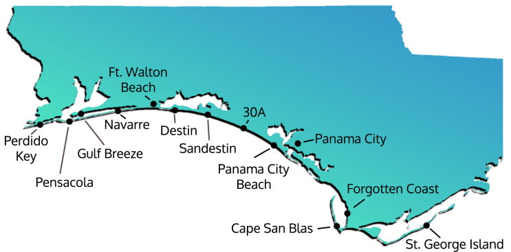 Florida Vacation Rentals Map