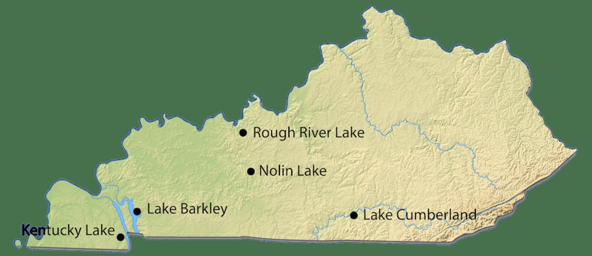 Kentucky City Map for Cabin Rentals