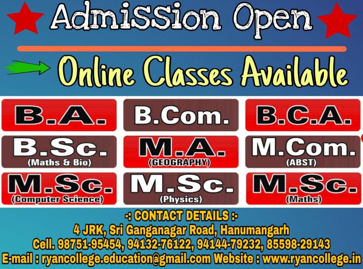 Regarding Online Classes & Admission