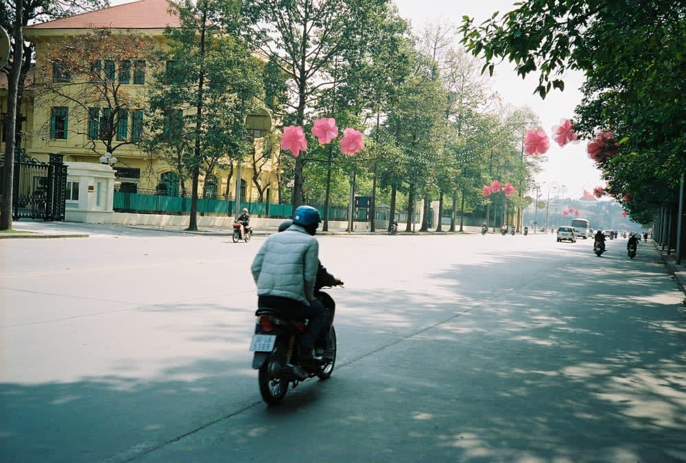 Hanoi street during Tet