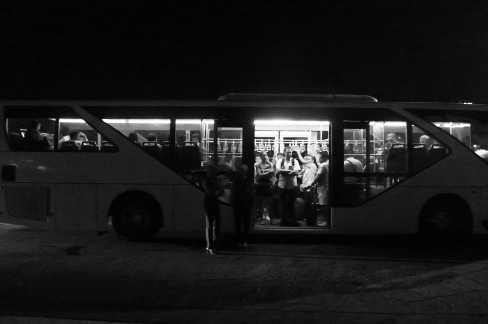 Our airport bus in Surabaya airport
