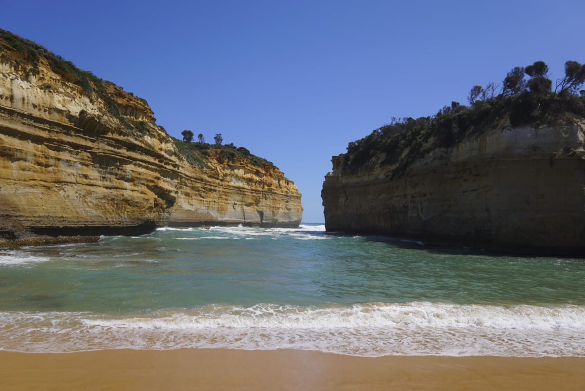 A way down to the beach of Loch Ard Gorge
