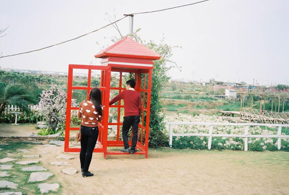 flower village red booth