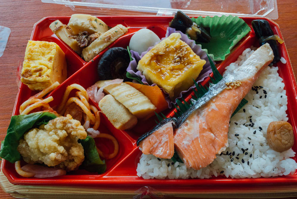This was my lunch by the lake. One of many things I enjoyed in Japan was the quality of the bento box at an affordable price.