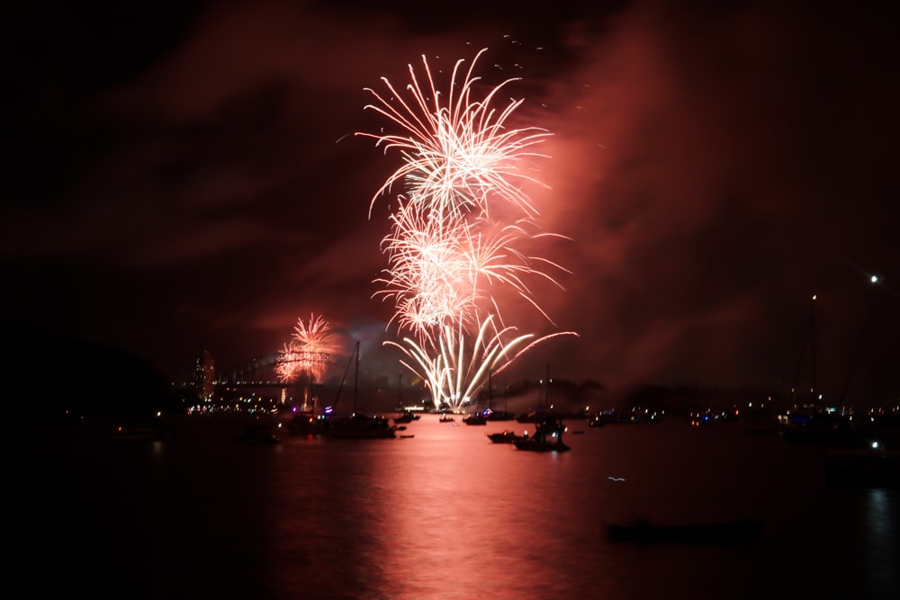 Sydney New Year Eve Firework 2018 red