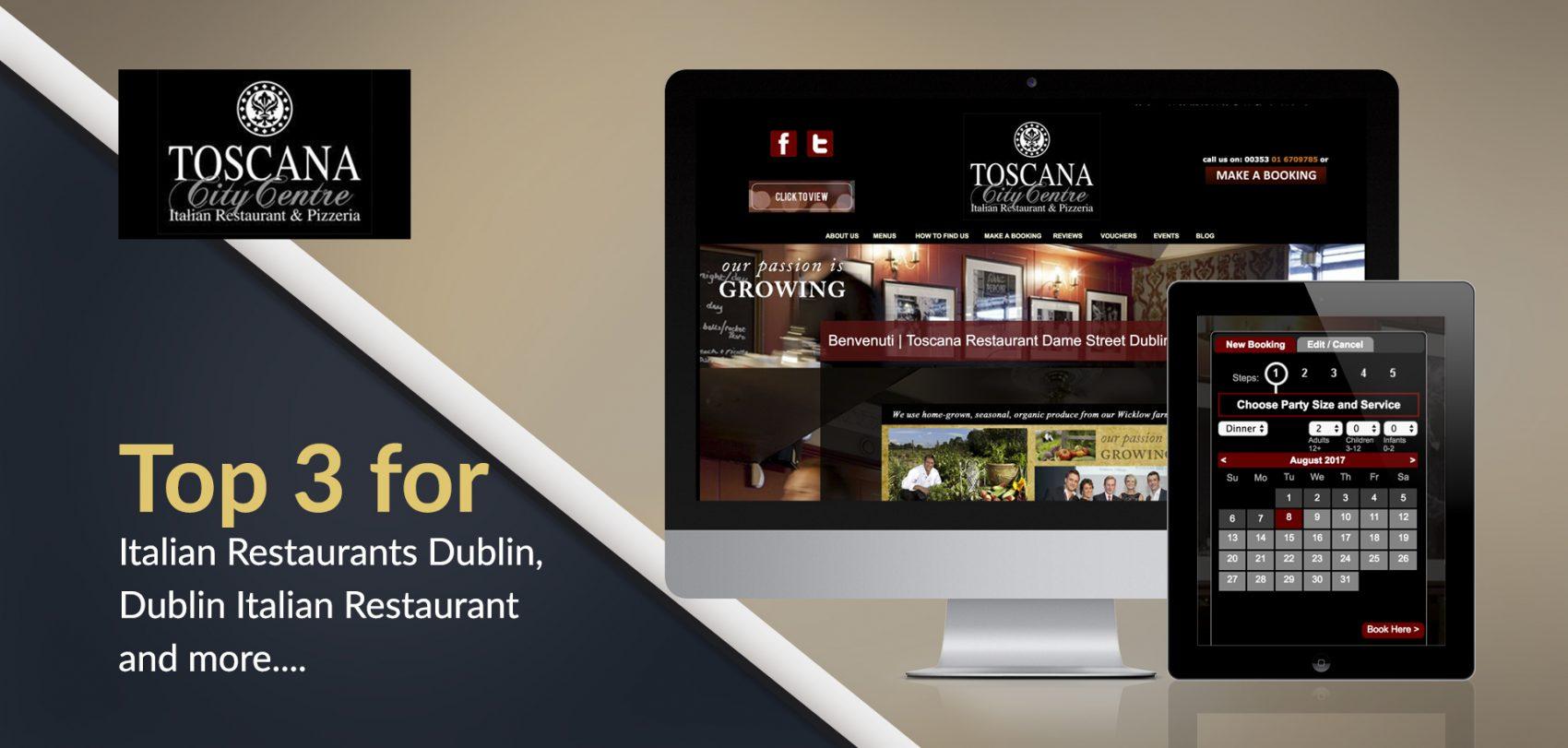 Toscana Restaurant Dublin SEO services