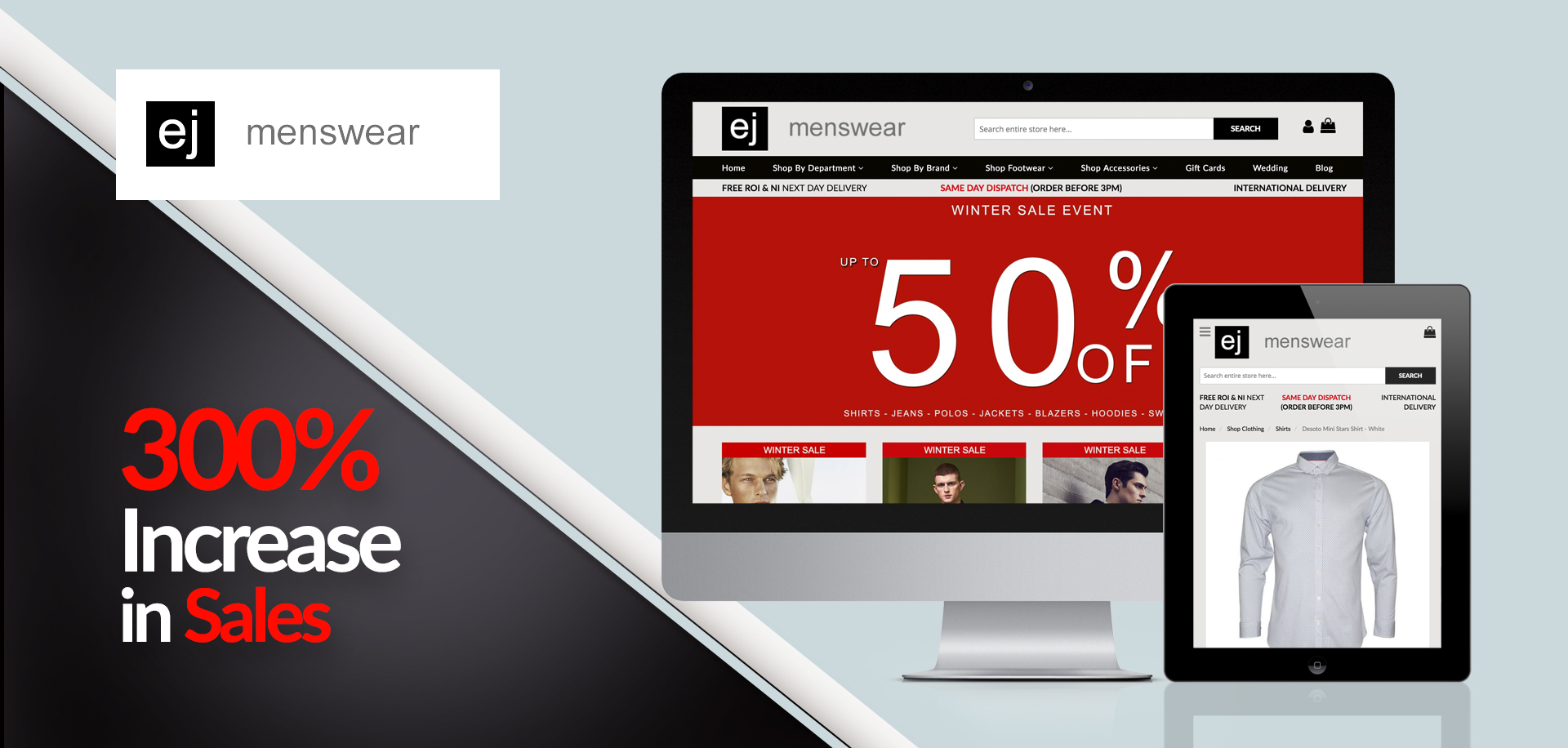 EJ Menswear SEO services