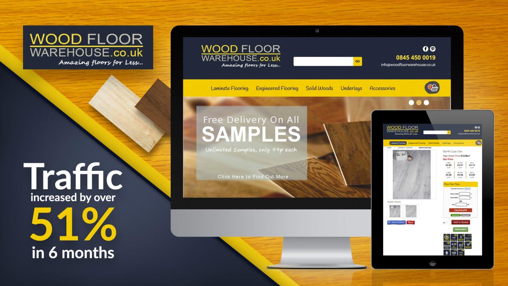 woodfloor warehouse seo results